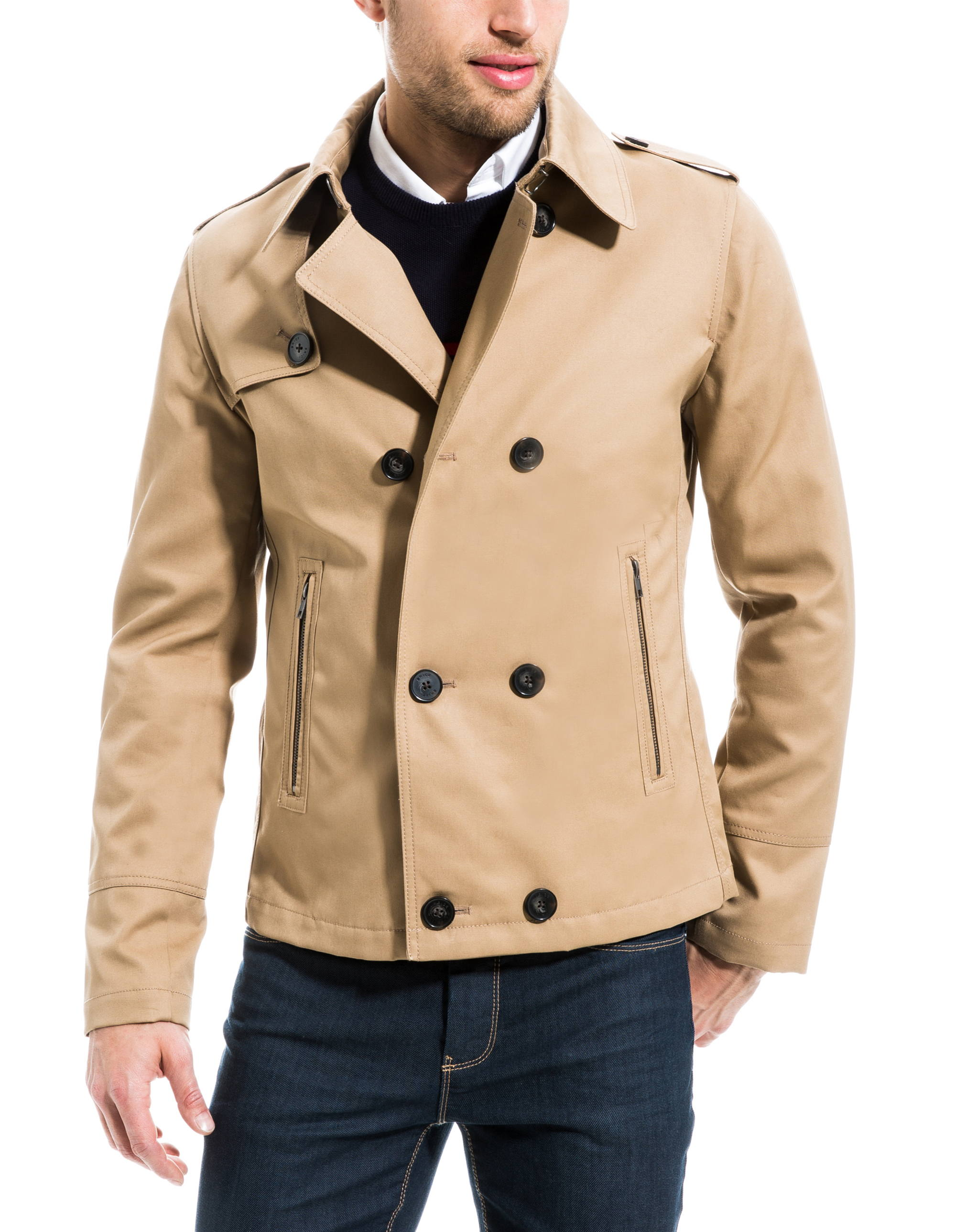 Trench court homme