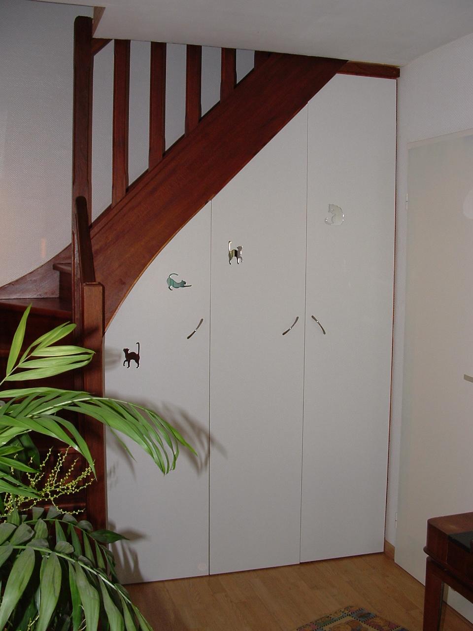 Mon amenagement placard sous escalier fait par des pros for Placards sous escalier