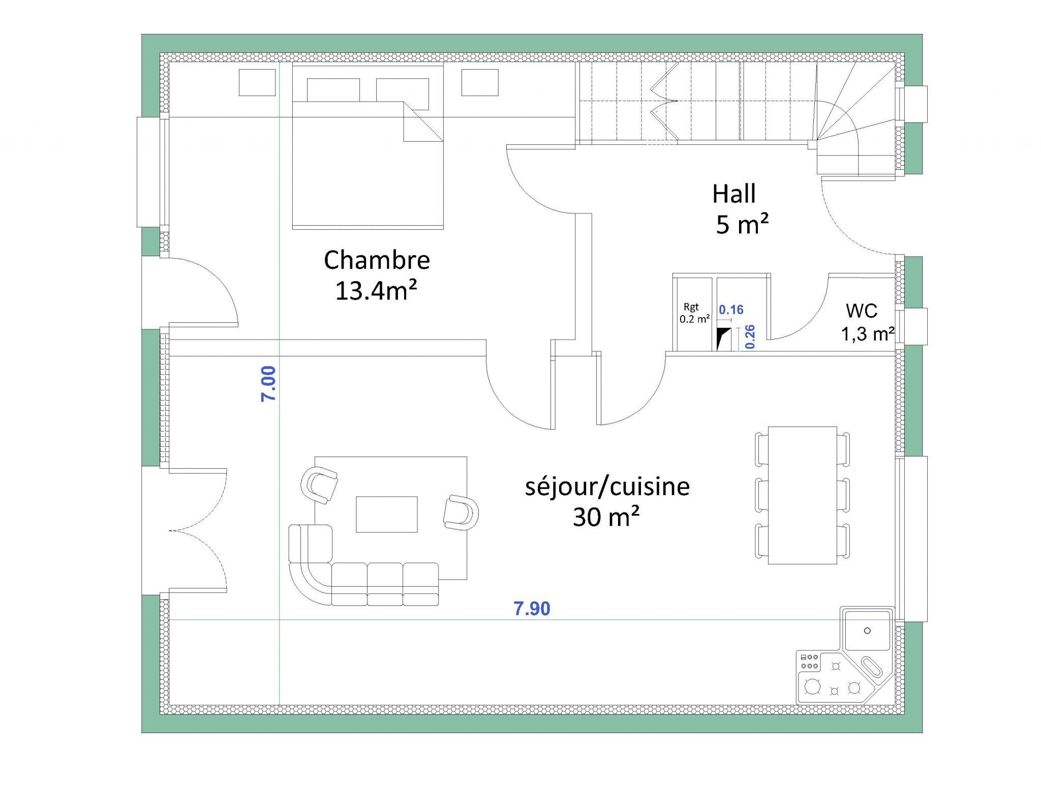 comment calculer une surface habitable. Black Bedroom Furniture Sets. Home Design Ideas